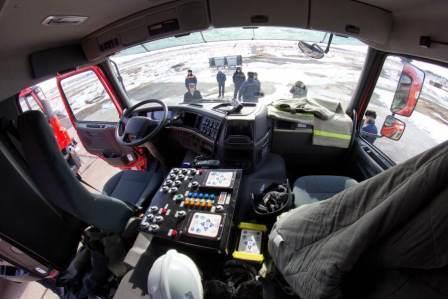 Панель управления пожарной машиной