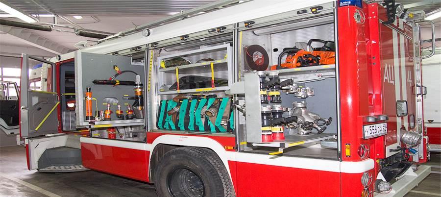 Размещение пожарного оборудования на АТС