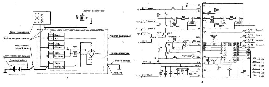 Схема электрических соединений и Блок управления БУ-37-02