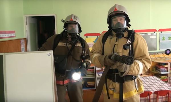 Учения по тушению условного пожара в детском саду