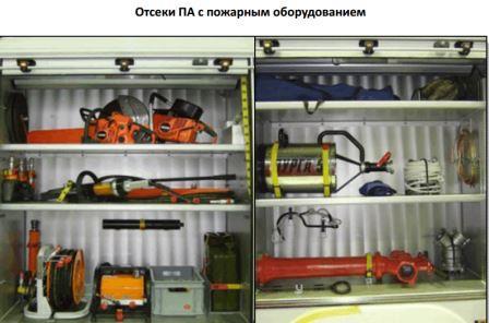 Отсеки ПА с пожарным оборудованием