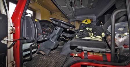 Пожарная кабина водителя