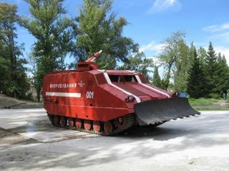 Пожарная машина на гусеничной шасси