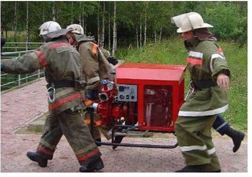 Пожарная переносная мотопомпа