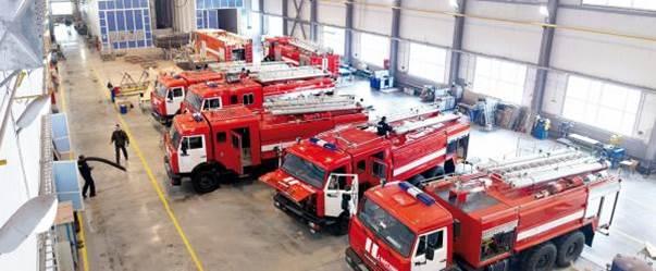 Ремонт пожарных автомобилей в пожарно-техническом центре