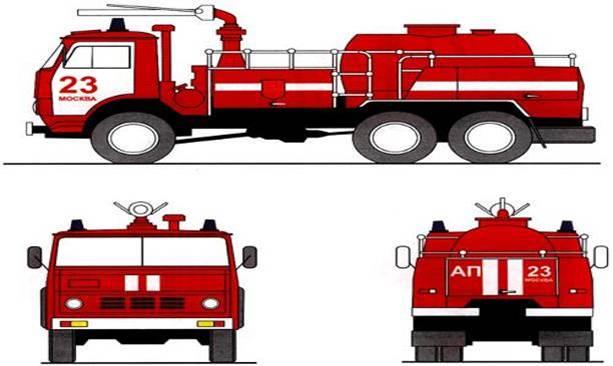 Сигнально-информативная окраска пожарных автомобилей