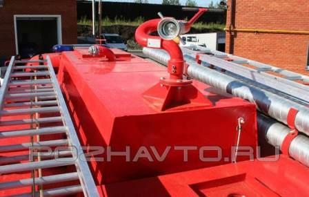 цистерна для размещения на коротком шасси Урал 55571.
