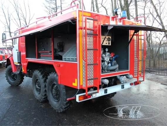 Установка и крепления пожарно-технического вооружения на АЦ 3,0 - 40 (4334)