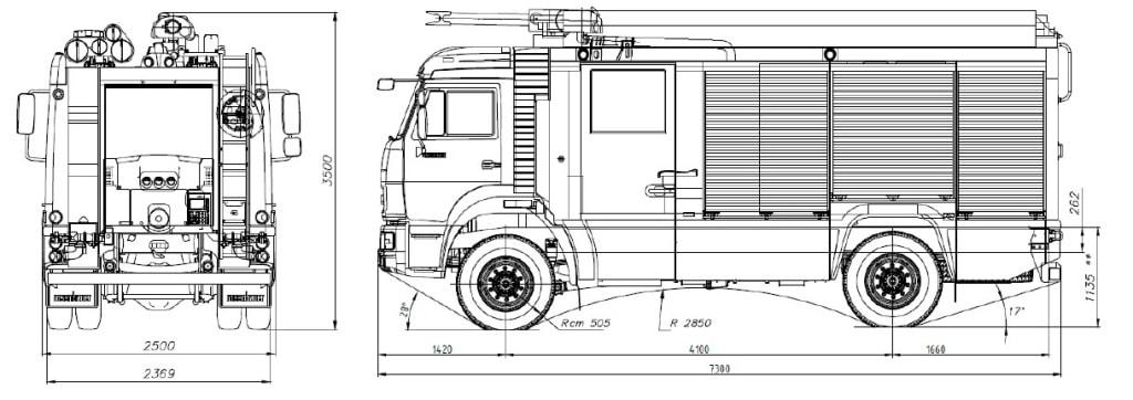 АЦ-3,2-40-4 шасси КамАЗ 5387 4х4