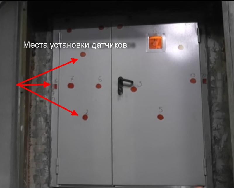 Испытания предела огнестойкости дверей