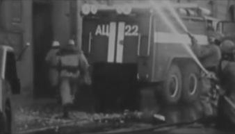 На пожаре огнеборцы с Урала