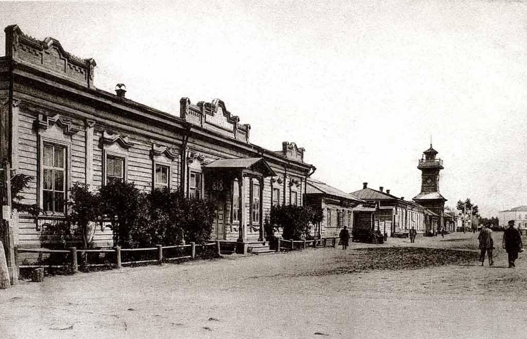 Деревянная Омская пожарная каланча