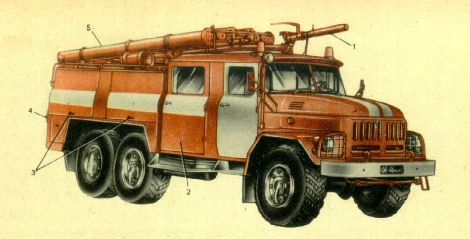 пожарный автомобиль АА-40