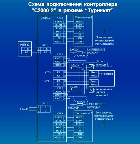 схема подключения С2000-2