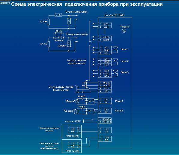 схема подключения прибора 2