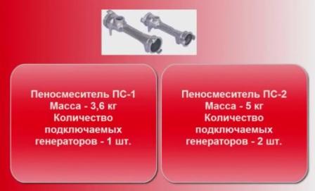 тактико технические характеристики пеносмесителя