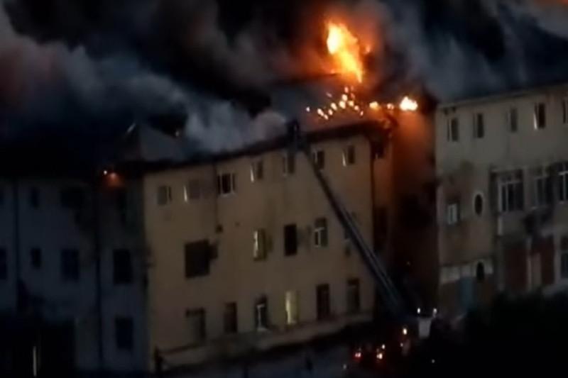 Пожар в общежитии
