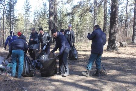 Акция чистый лес в Забайкалье