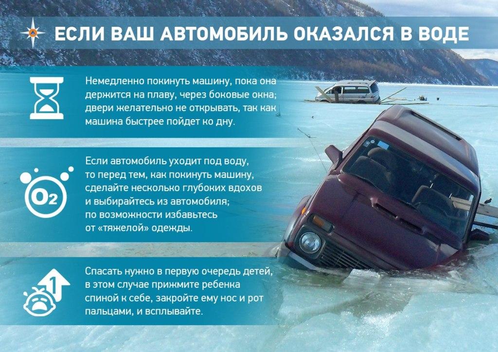 Что делать если автомобиль в воде