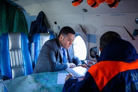 Губернатор Тверской области совершает облет территорий