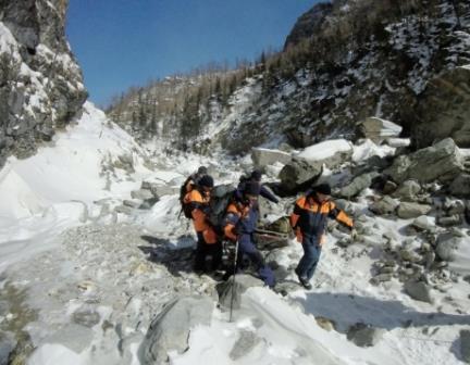 Сход лавины в Бурятии