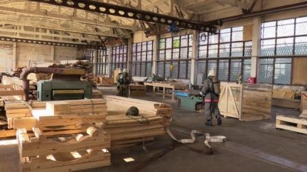 Учения на заводе в Тамбове