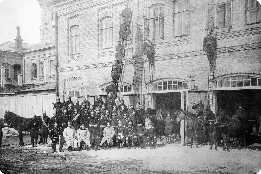 Пожарная команда 1-ой полицейской части г. Самары (фото: начало XX века)