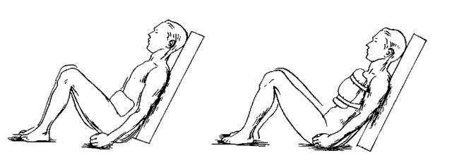 Положение при ранениях грудной клетки