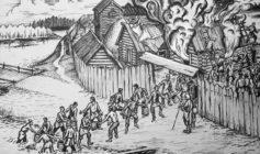 Пожар в деревянном городе
