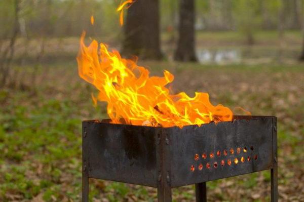 Пожарная опасность мангала
