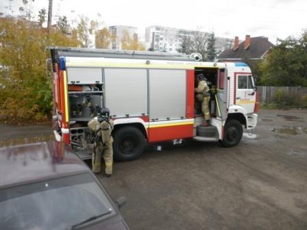 Боевое развертывание от пожарного автомобиля