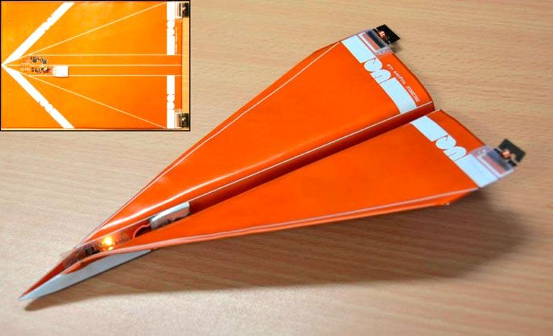 БПЛА в виде бумажного самолетика