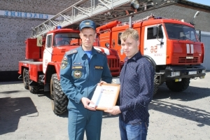 Молодой герой спас семью из пожара