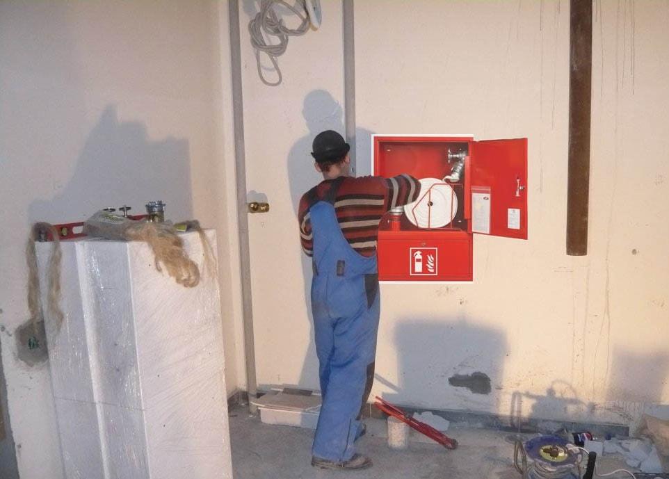 Установка пожарного шкафа
