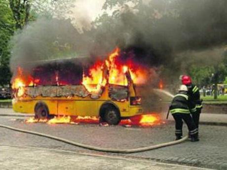 Горение автобуса