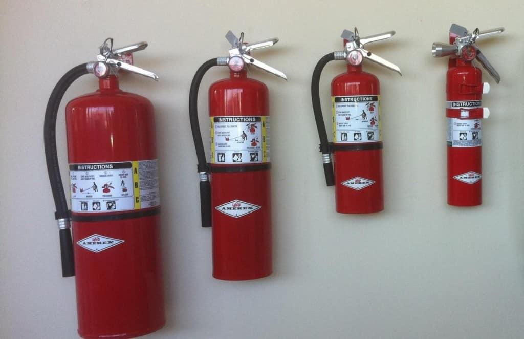 Требование к огнетушителям и расположение
