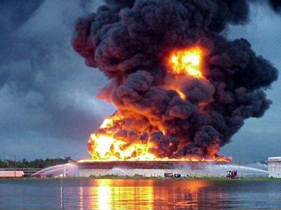 Горение резервуара с нефтепродуктами