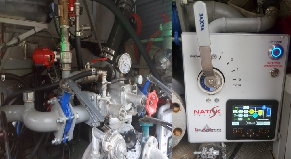 Панель управления системой NATISK и насос