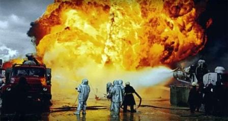 пожар на нефтяной вышке