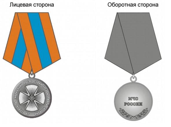 Медаль МЧС России За отличие в ликвидации последствий ЧС