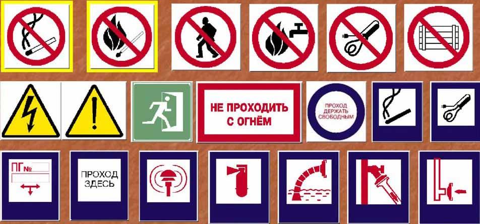 Знаки пожарной безопасности (правила)