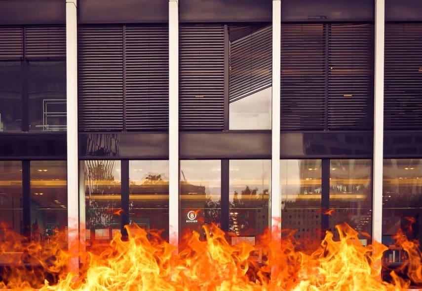 Огнестойкие перегородки стеклянные