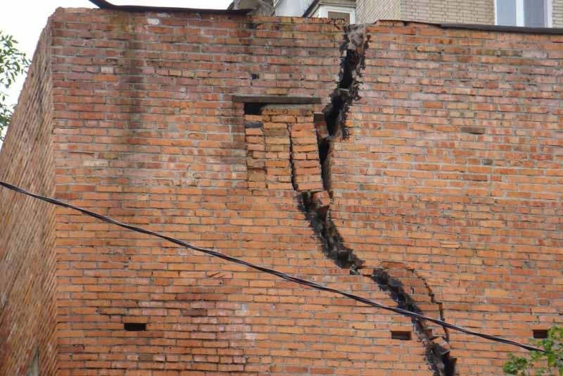 Среднее разрушение здания
