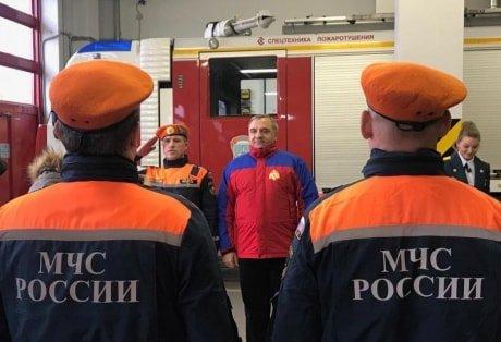 Визит министра в пожарную часть