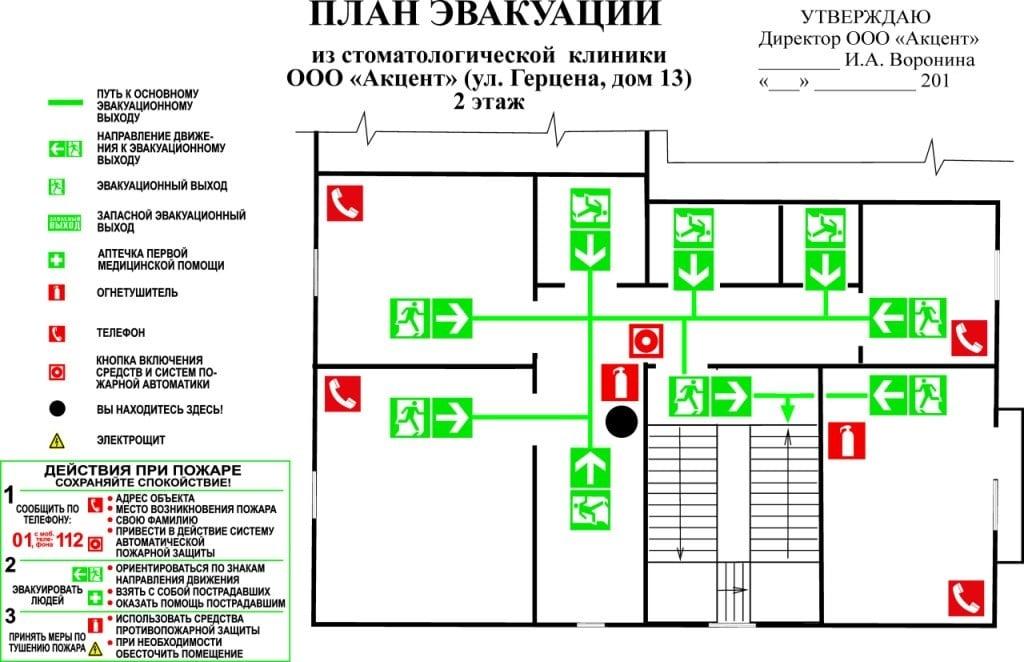 Реферат на тему план эвакуации 5712
