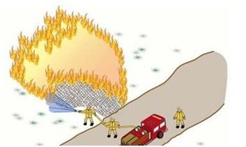 Прокладка магистральной линии к фронту пожара