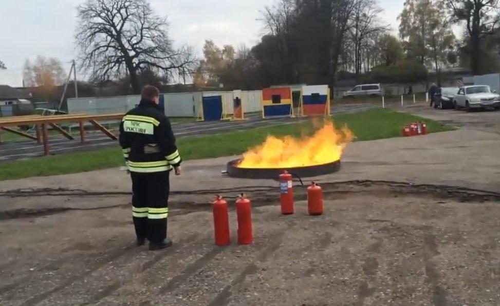 Модельный очаг пожара класс В