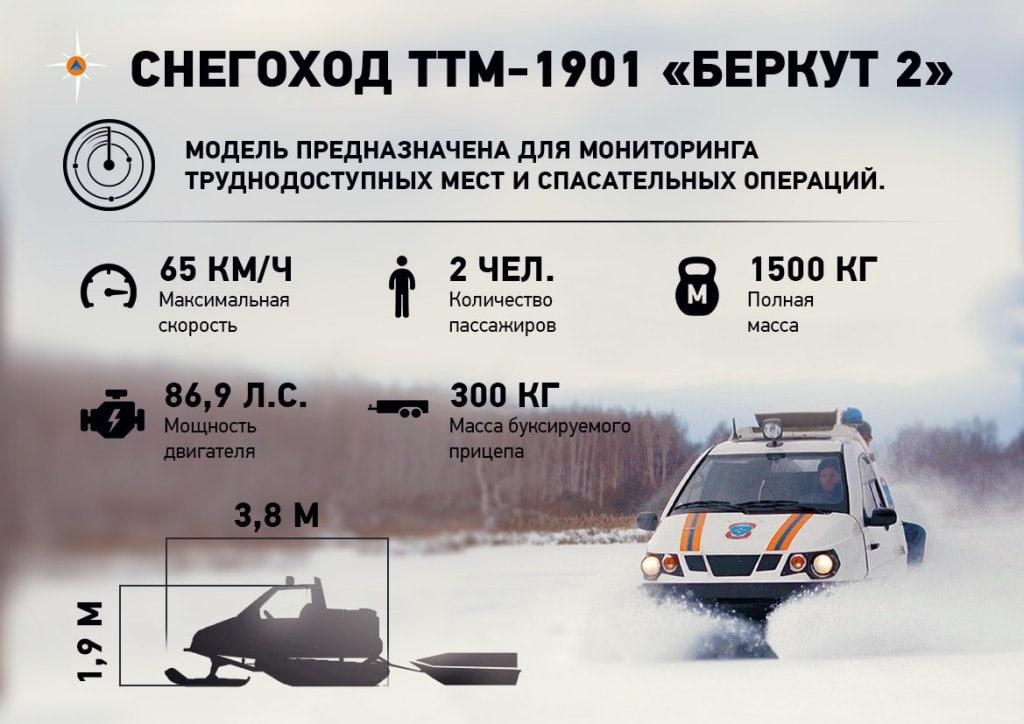 Снегоход ТТМ-1901 Беркут 2