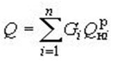 Формула расчета полной пожарной нагрузки