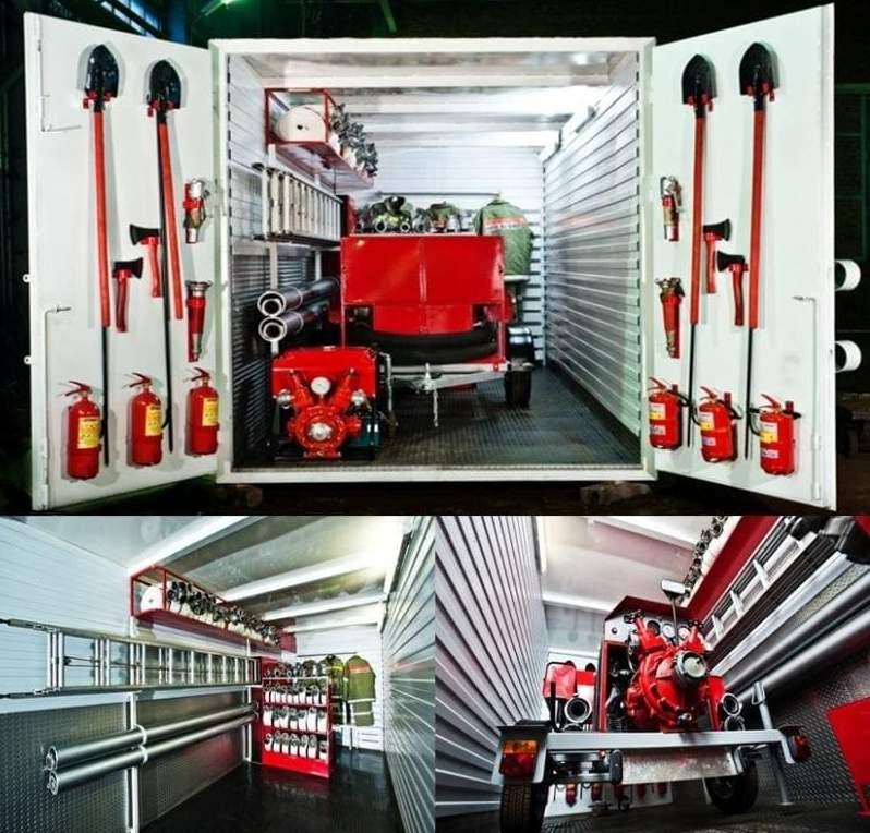 Модульный мобильный стационарный пожарный пост ВОДОПАД